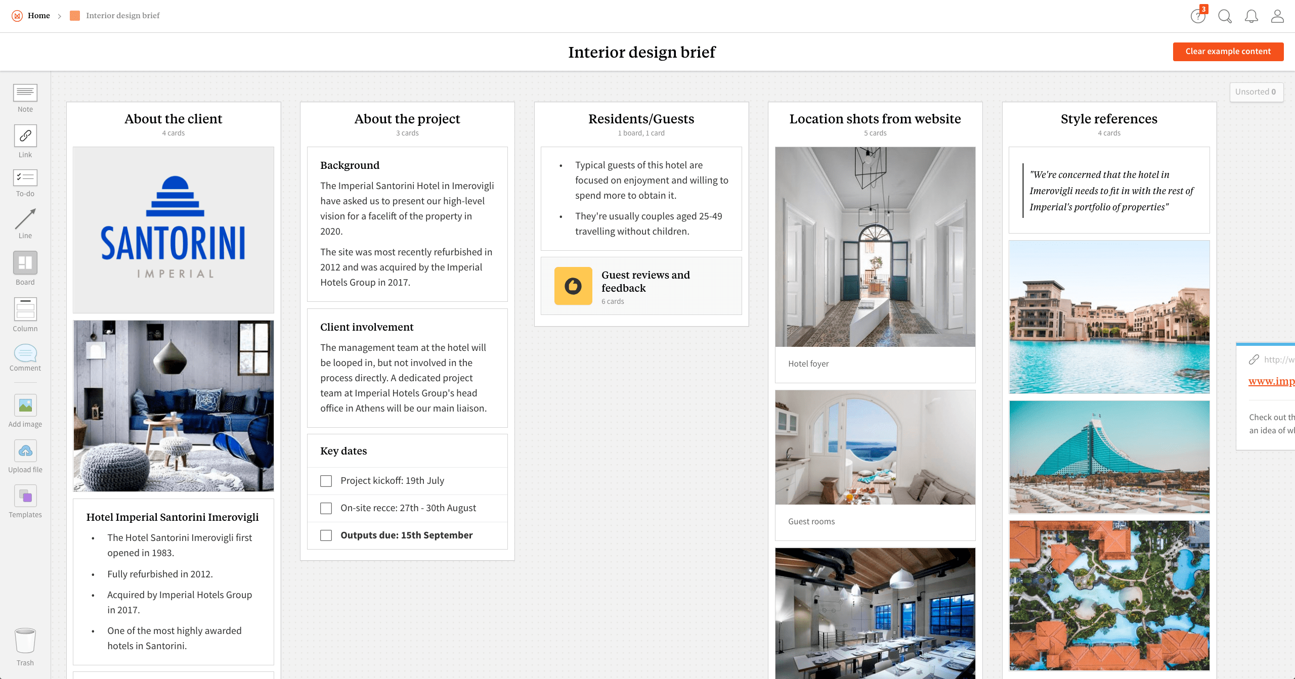 Interior Design Brief Template & Example Project - Milanote
