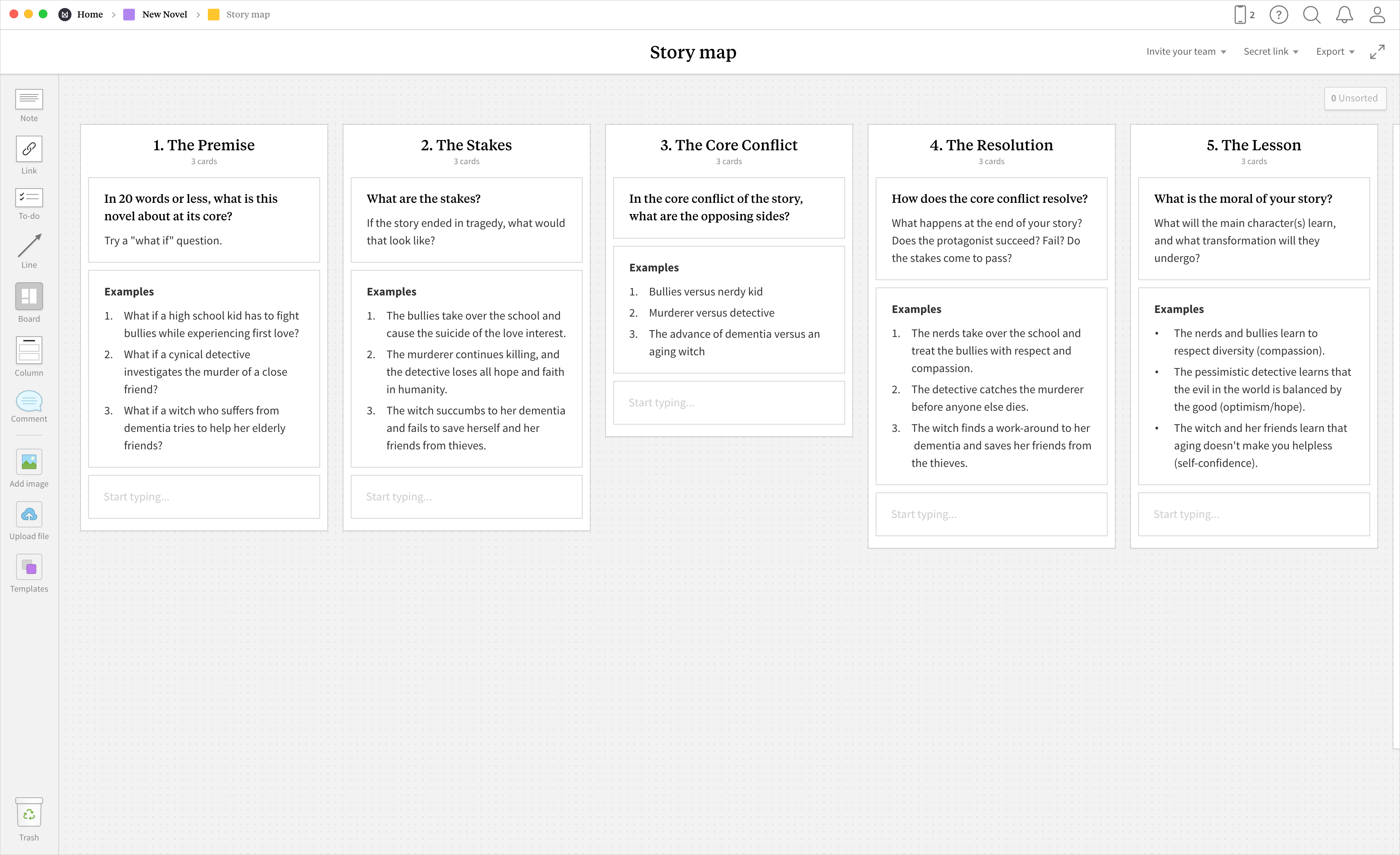 Story Map - Template & Example - Milanote